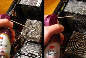 Как почистить компьютер от пыли – последний этап