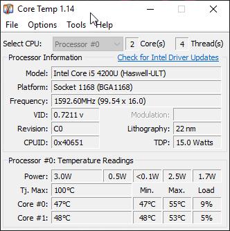 Как узнать температуру процессора с помощью программы