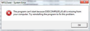 d3dcompiler_43dll не найден