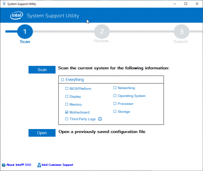 Утилита System Support Utility for Windows