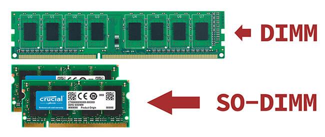 DIMM и SODIMM - в чем разница оперативной памяти