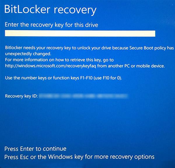 BitLocker recovery