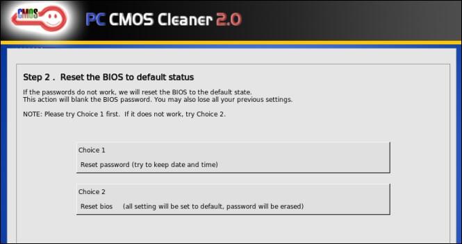 Очистка пароля биос с помощью PC CMOS Cleaner