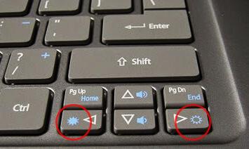 Уменьшить яркость экрана - кнопка яркости