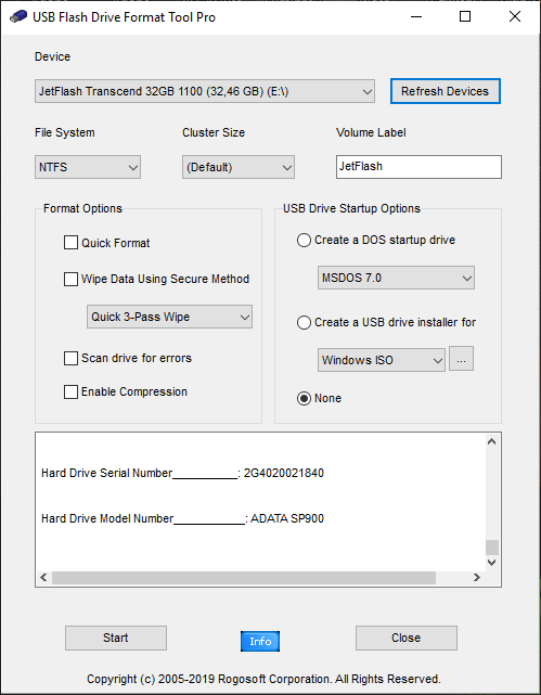 USB Flash Drive Repair Tool - если не удается отформатировать флешку