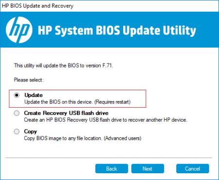 BIOS HP как зайти на ноутбуке и обновить