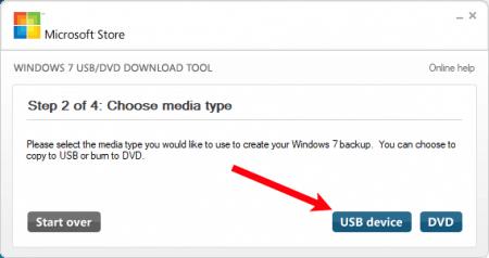 Как записать образ Windows 7 с помощью USB/DVD Download Tool