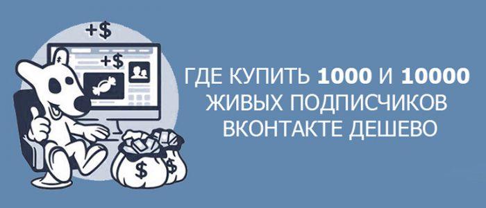 Где купить 1000 и 10000 живых подписчиков Вконтакте дешево