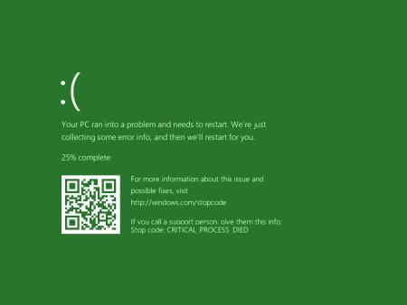 Зеленый экран смерти GSOD