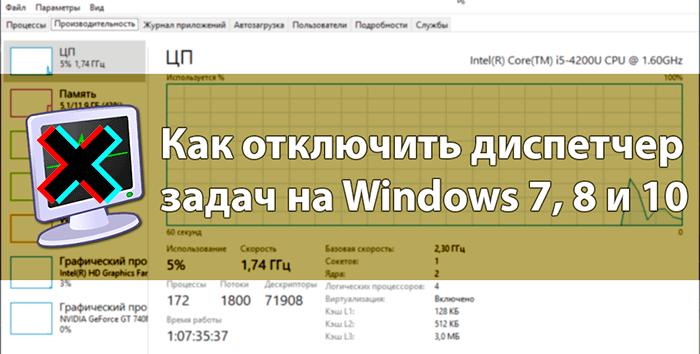 Как отключить диспетчер задач на Windows 7, 8 и 10