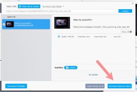 Сканирование видео в WinX YouTube Downloader