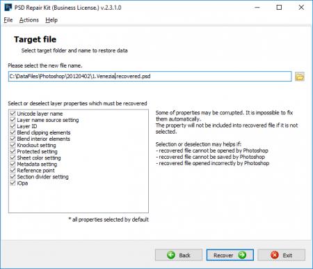 В Repair Kit можно отделить слои от PSD файла