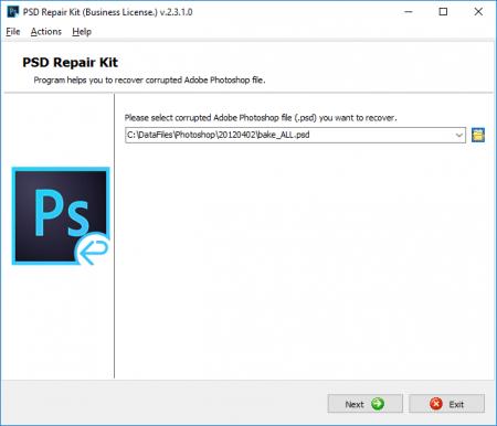 Реанимация данных из неисправного PSD файла
