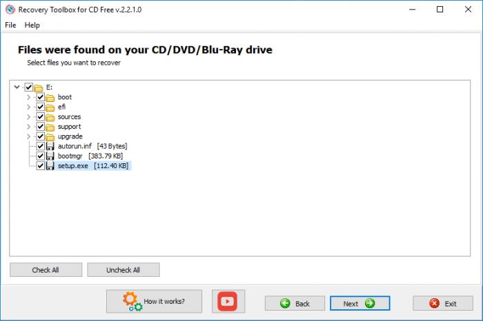 Восстановление данных с дисков CD, DVD с помощью Recovery Toolbox for CD Free