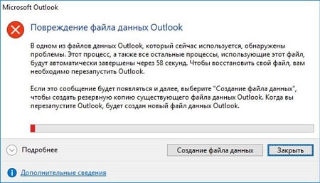 Ошибка документа Outlook