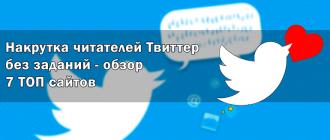 Накрутка читателей Твиттер без заданий