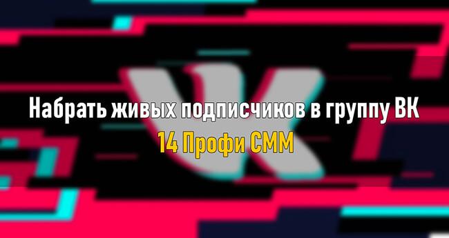 Набрать живых подписчиков в группу ВК — 14 Профи СММ