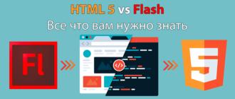 HTML 5 против Flash: все что вам нужно знать