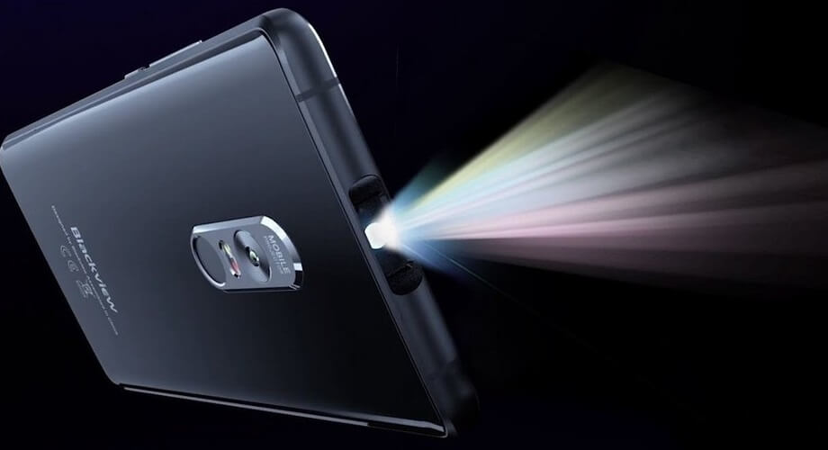 Blackview — первый в мире смартфон-проектор