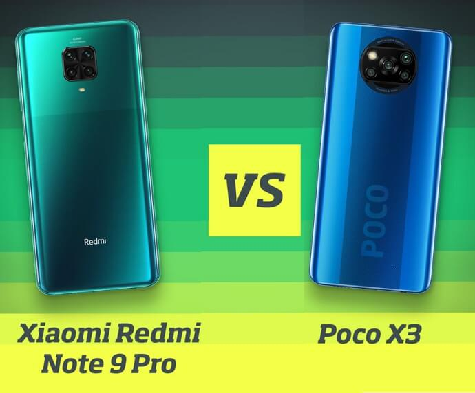 Дизайн сравнение Poco X3 и Redmi Note 9 Pro