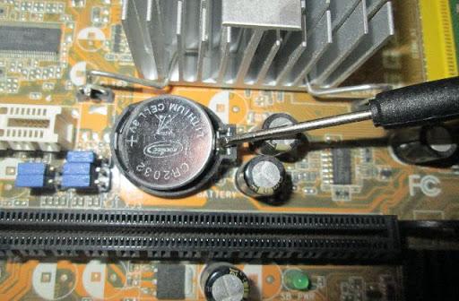 Сброс BIOS с помощью батарейки CMOS