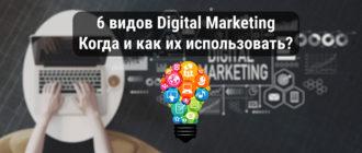 6 видов Digital Marketing: когда и как их использовать?