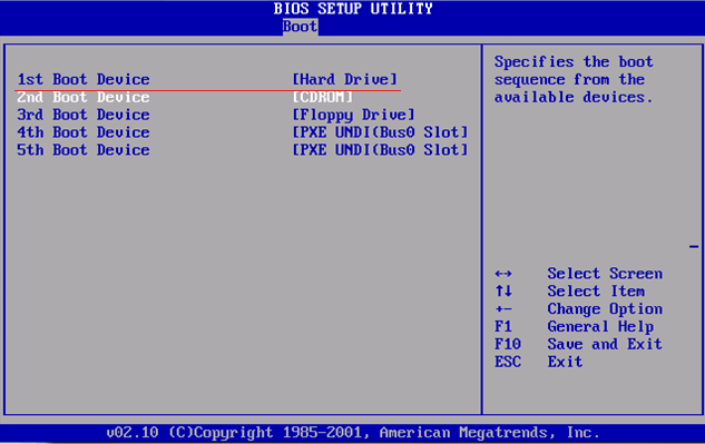 Настройка BIOS для установки Windows