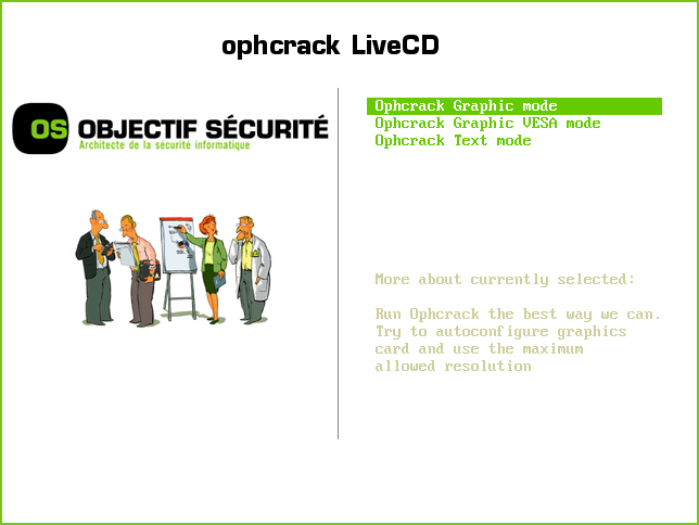 ophcrack-livecd-main-menu