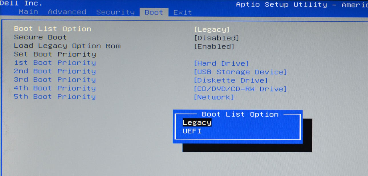 Boot-List-Option