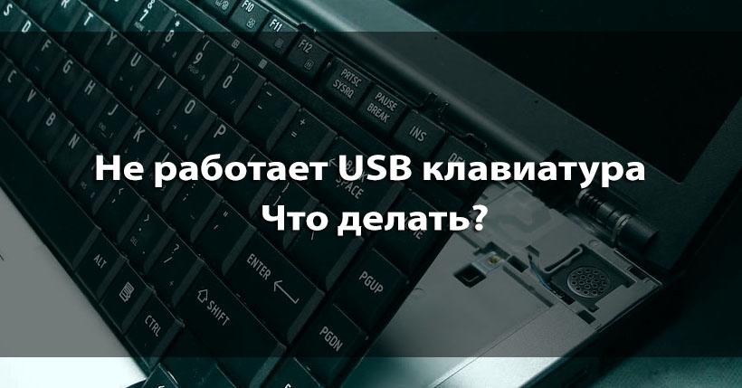 Почему не работает клавиатура usb на компьютере