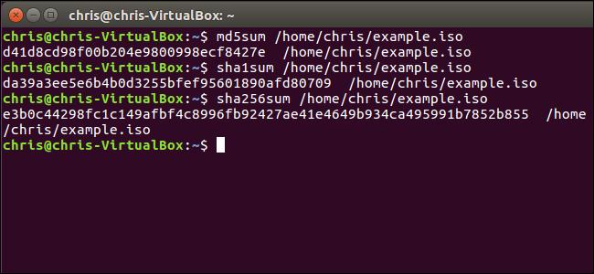 Проверка хэша в Linux