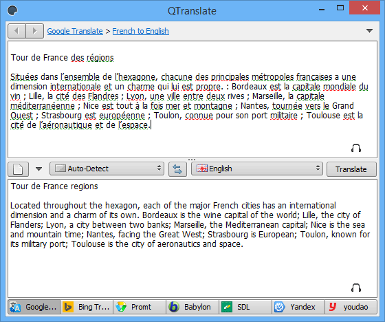 Перевод текста с экрана монитора, программа для распознавания QTranslate