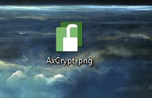 Зашифрованный файл с помощью AxCrypt