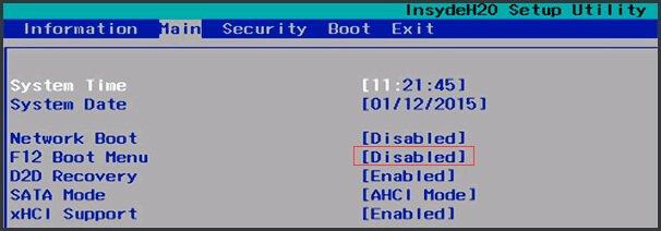 Зайти в Boot Menu с ноутбуков Acer