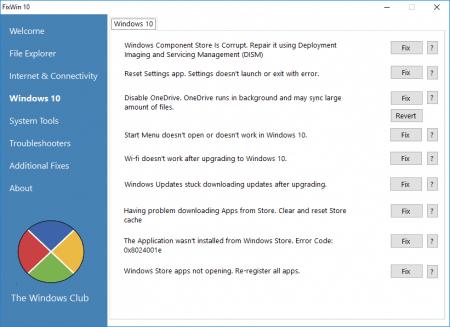 Как исправить ошибки на Windows 10 с помощью FixWin 10