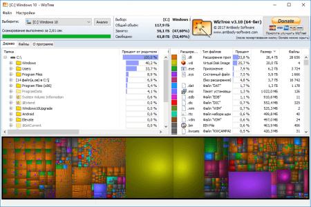 Анализ диска с помощью программы WizTree