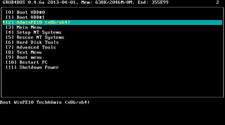Загрузочная флешка администратора AdminPE