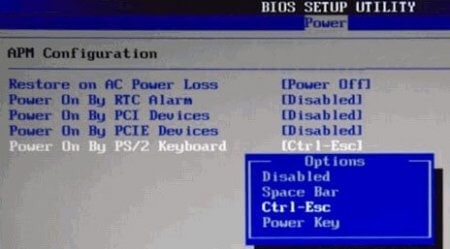 Как включить компьютер с помощью клавиатуры