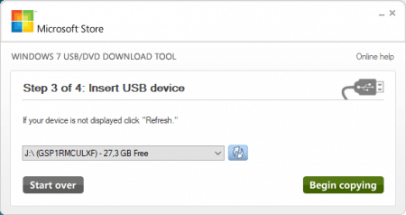 Как записать образ Windows 7 с помощью USB/DVD Download Tool